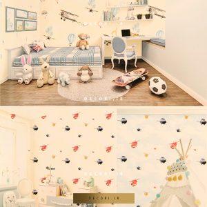 کاغذ دیواری طرح کودک