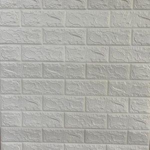 دیوارپوش برچسبی آجری سفید